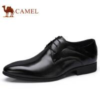camel 骆驼男鞋劲柔酷黑透气职场商务正装皮鞋