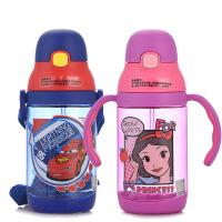 迪士尼宝宝学饮杯儿童水杯吸管杯 婴儿防漏水杯 学生喝水水壶两用