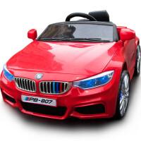 风速M6加长版儿童电动车四轮车婴幼儿车小孩遥控推车汽车宝宝玩具摇摆车 红色+2.4G遥控+推杆+发光轮+皮座椅