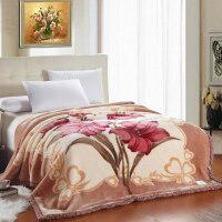 婚庆毛毯大红色结婚用毛毯喜被子陪嫁9/10斤12加厚双人绒毯子