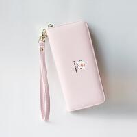 小清新钱包女长款可爱学生日韩个性钱夹新款大容量拉链手机包