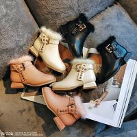 女童加绒保暖公主靴子女孩马丁鞋子