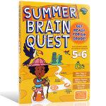 Summer Brain Quest:Between Grades 5&6大脑任务 英文原版 暑期练习册5-6年级 美