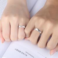情侣戒指女一对 创意饰品学生日韩简约对戒男礼物一生一世