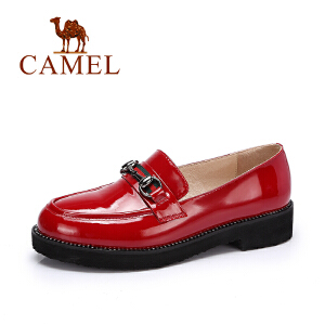 camel/骆驼女鞋秋季新款 时尚休闲鞋通勤单鞋女 舒适套脚低跟鞋