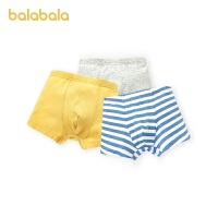 【2件5折价:25】巴拉巴拉男童内裤平角裤棉儿童短裤中大童宝宝亲肤可爱贴身3条装