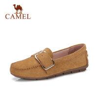 Camel 骆驼女鞋2018春季新款社会女鞋子豆豆鞋平底一脚蹬单鞋舒适妈妈鞋