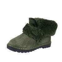 冬季时尚百搭雪地靴女学生韩版厚底防滑加厚短靴短筒一脚蹬懒人鞋
