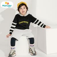 【1件2折】马卡乐童装22春新款男宝宝套装时尚假两件设计休闲男童套装