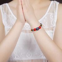 手工民族风珠链手链 琉璃菩提 复古藏式手饰品女