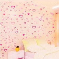 可移除墙贴 卧室沙发电视床头背景装饰贴画 温馨浪漫风格爱心贴纸