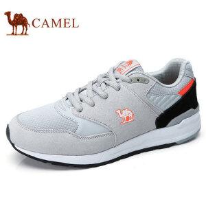 camel 骆驼男鞋 秋季新品舒适运动低帮鞋时尚男缓震百搭休闲鞋 质感反绒皮 MD橡胶组合底