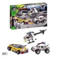 开智 城市警察警匪徒组装益智积木玩具拼装积木塑料男孩儿童玩具