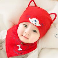 婴儿帽子秋冬季0-6-12个月满月男女童宝宝纯棉新生儿胎帽冬季潮