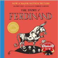 现货 爱花的牛 公牛历险记 英文原版 The Story of Ferdinand 儿童绘本 反战 和平主义 曼罗・里