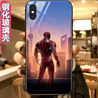 玻璃手机壳iPhone 6 6s 7 8 plus XS max Xr X漫威钢铁侠的背影
