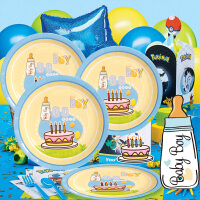 孩派 生日派对用品套装 儿童生日用品 100天 百天男孩主题系列