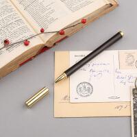 签字笔 定制刻字匠心之笔 红木笔 黄铜笔 紫檀木中性复古笔