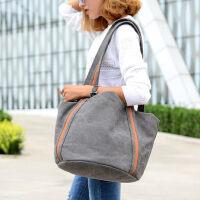 帆布包女包 女士包单肩包挎包水桶包背包学院风大包包