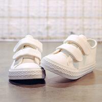 儿童帆布鞋女童小白鞋男童板鞋宝宝布鞋子百搭春秋