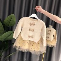 女童连衣裙秋冬宝宝裙子儿童针织小女孩