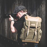 摄影包帆布国家地理单反双肩相机包户外休闲背包