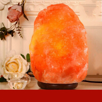 盐灯喜马拉雅水晶盐灯盐晶灯负离子矿物灯欧式创意装饰台灯床头灯 调光开关
