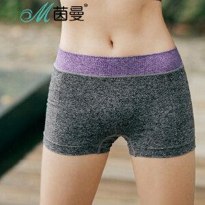 包邮 茵曼内衣 瑜伽运动短裤 健身裤 修身弹力慢跑短裤女 9872522322