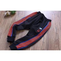 中大童男童运动裤秋冬季童装儿童侧条收口卫裤