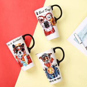 爱屋格林创意卡通马克杯水杯陶瓷杯礼盒装咖啡杯大容量*可爱狗