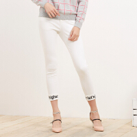 美特斯邦威女装高腰超级紧身休闲长裤248657 wp