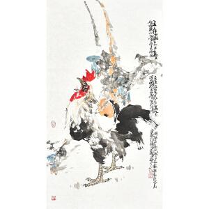 山东省美术家协会会员 李东献《五德图》gh04236