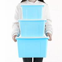 收纳盒手提塑料收纳箱车载整理箱周转储物箱装衣服箱子三件套