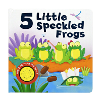 5 Little Speckled Frogs 5只小斑点青蛙 经典儿歌童谣发声书 儿童英语撕不烂纸板书 英文原版进口