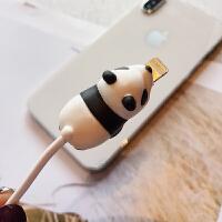 动物咬咬苹果数据线保护套充电线充电器保护线保护头动物咬线器 * 保护套不含数据线