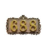 欧式门牌号 古铜色 房间号 立体数字号码牌 数字牌