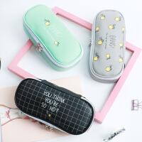简约女生小清新笔袋男大容量初中小学生文具盒女韩国创意可爱笔盒