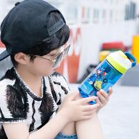 儿童水杯夏季小学生防摔幼儿园便携可爱吸管杯塑料运动水杯