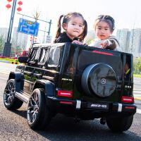 奔驰大g儿童电动汽车双人大越野四轮遥控宝宝玩具车可坐人