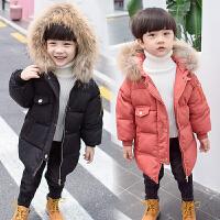 男童棉衣冬装外套宝宝冬季中长款羽绒洋气棉袄潮