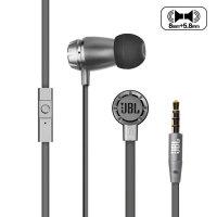 JBL T380A双动圈单元入耳式苹果耳机HIFI监听耳塞式通用线控有麦银色