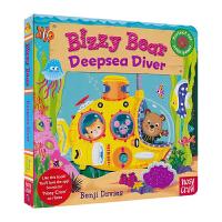 Bizzy Bear 小熊好忙 英文绘本 Deepsea Diver 潜入深海 英语机关书 纸板书 儿童英文原版进口图