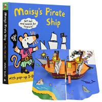 Maisy's pirate ship maisy小鼠波波的海盗船 英文绘本原版 机关书 英文原版进口图书