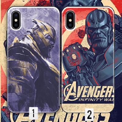 复仇者联盟4手机壳iPhone 6 6s 7 8 plus XS max Xr漫威X响指灭霸