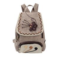 201809224442068韩版复古文艺范女士帆布双肩包民族风休闲旅行旅游迷你小背包可爱