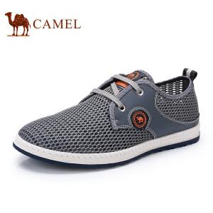 骆驼牌 男鞋 新品轻便运动休闲鞋透气网面鞋舒适低帮男鞋