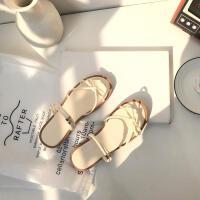 韩国拖鞋女夏外穿一字软底平底两穿搭配裙子的凉鞋