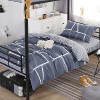 床单三件套床上被芯寝室全棉冬被单人被褥四六件套装学生宿舍被子 1.8米床 双人套装 冬被6斤款