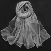 丝巾女薄款超大围巾沙滩巾丝巾女春夏季雪纺纱巾百搭防晒披肩