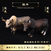 实心仿真动物模型儿童礼物玩具犀牛*奶牛水牛耗牛公牛